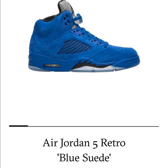 "3adc7e27b5a0 Nike Air Jordan Retro 5 ""Blue Suede"" New Sz9 Men"